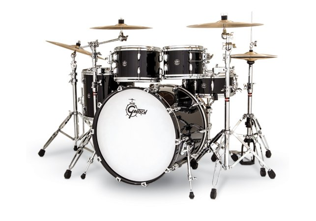 Renown Birch 4 Piece Shell Pack in Piano Black Finish