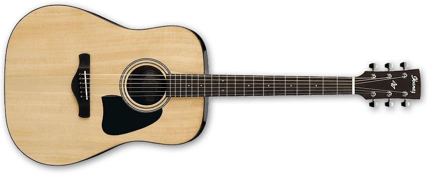 Natural High Gloss Artwood Series Dreadnought Acoustic Guitar