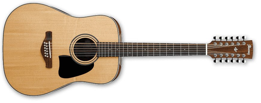 Ibanez AW8012NT Natural High Gloss Artwood Series 12-String Dreadnought Acoustic Guitar AW8012NT