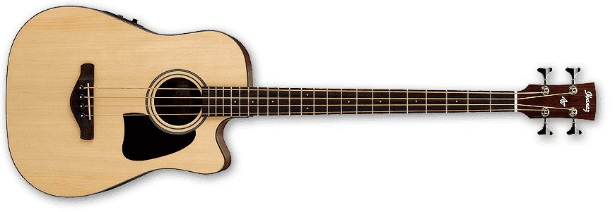 Natural Low Gloss Artwood Seies Acoustic/Electric Bass with SPT Preamp