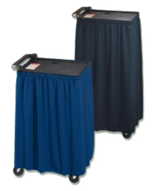 """110"""" Black Vellite AV Cart Skirt"""