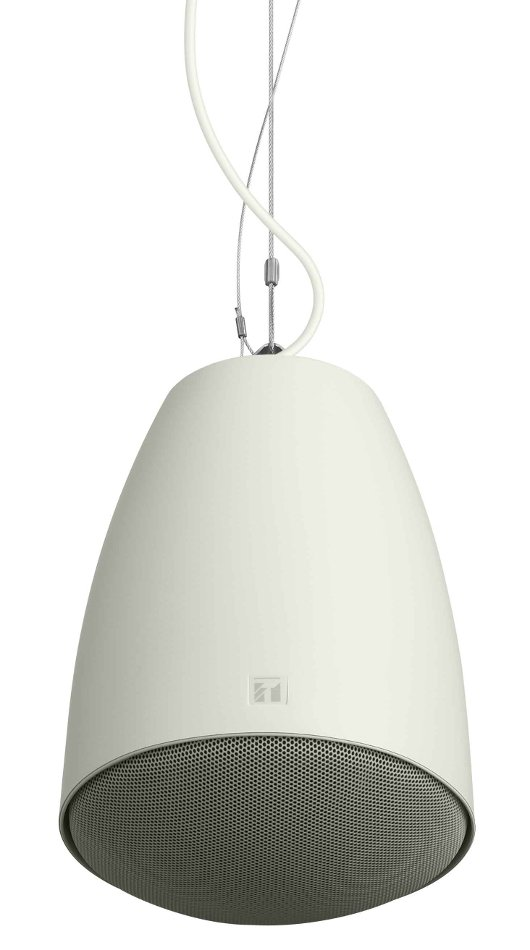 "UL Rated 60W Pendant Speaker with 5"" Woofer in White"