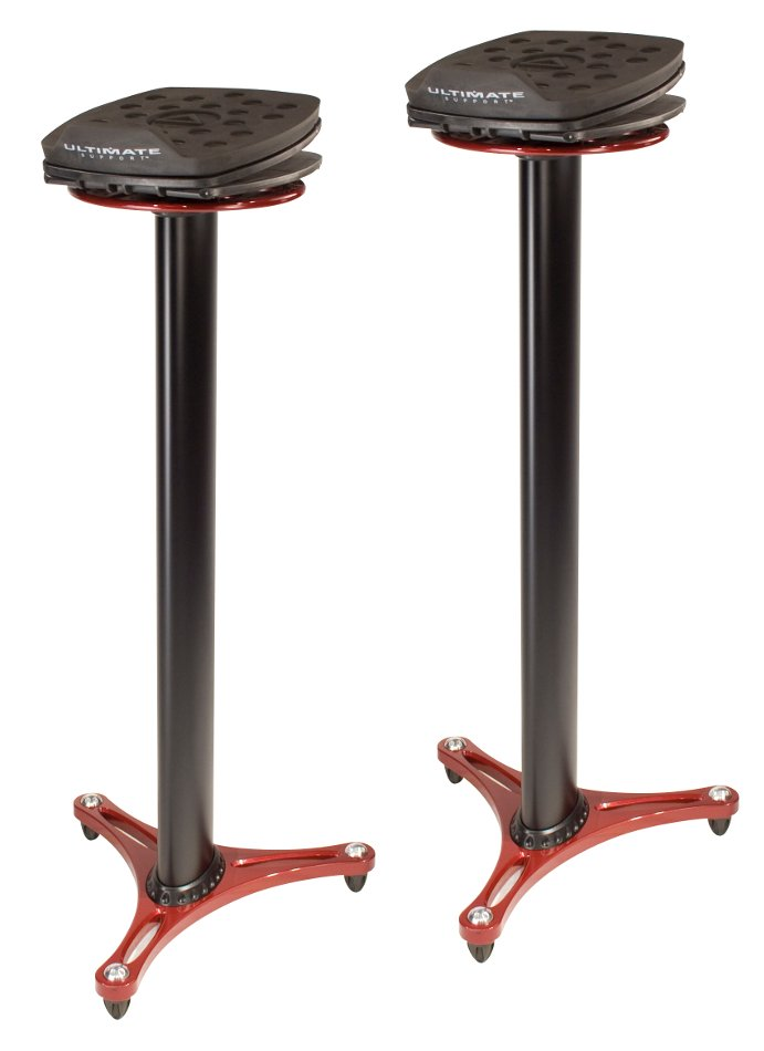 Pair of Column Studio Monitor Stands with Adjustable Angle and Axis