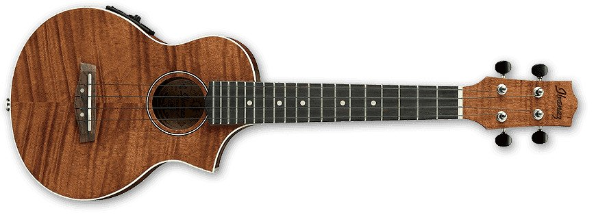 Open Pore Natural UEW Series Acoustic/Electric Cutaway Concert Ukulele with UK-300T Preamp