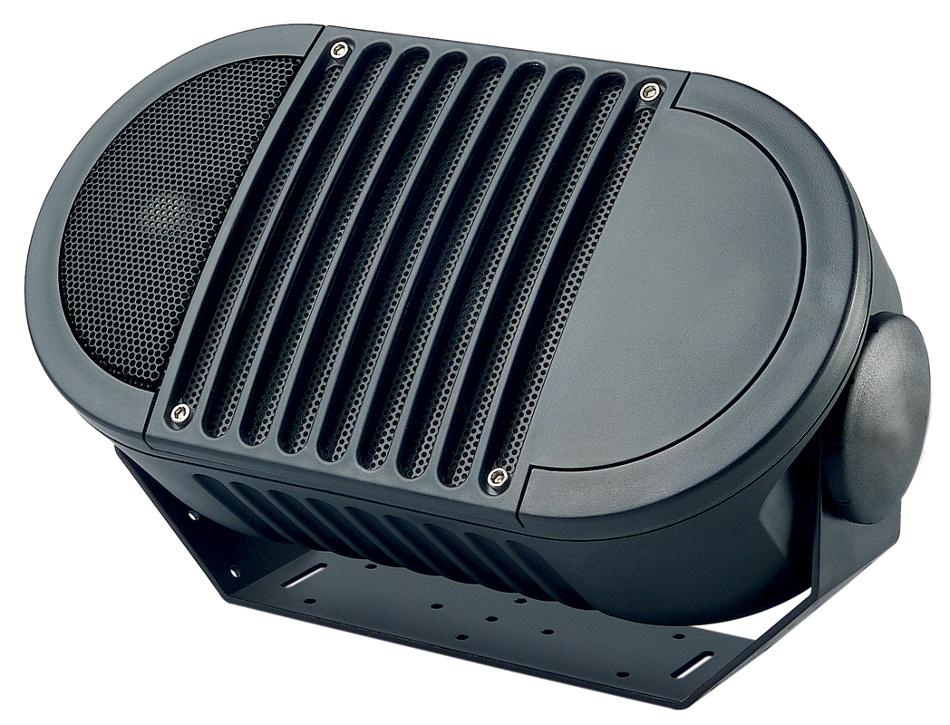 "A-Series 6"" 2-Way Armadillo Speaker in Black with Multi-Tap 70V Transformer"