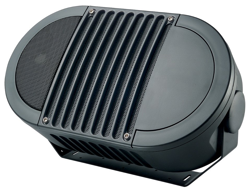 "Bogen Communications A8TBLK A-Series 8"" 2-Way Armadillo Speaker in Black with Multi-Tap 70V Transformer A8TBLK"