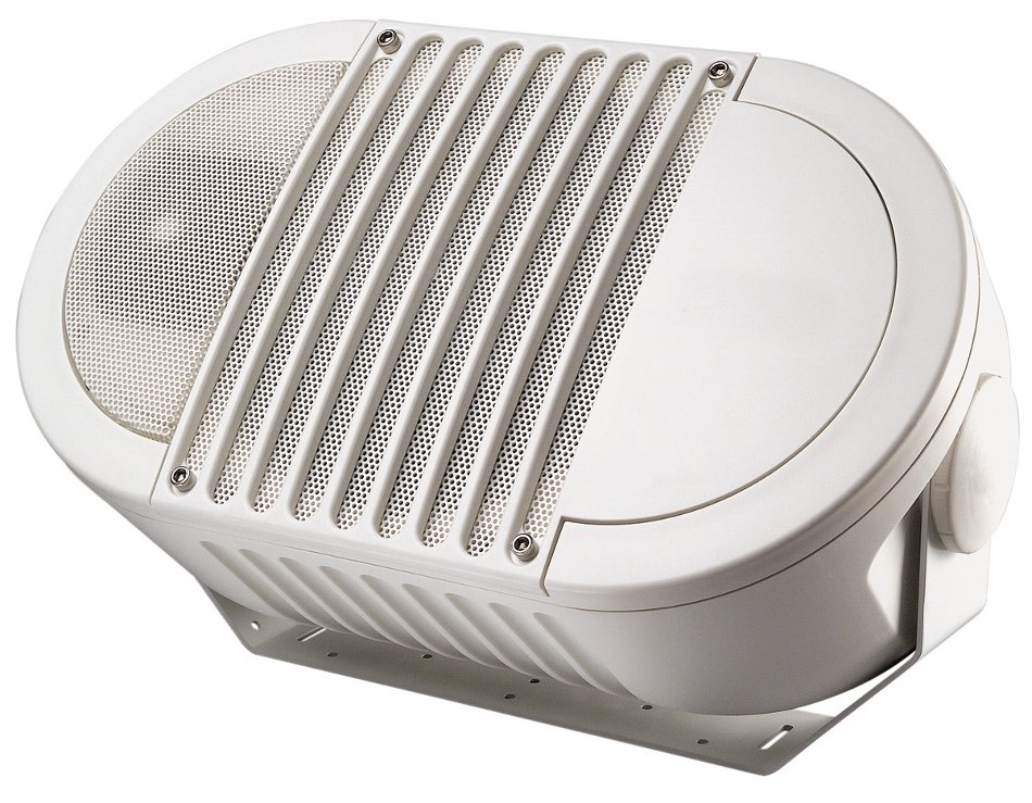 "A-Series 8"" 2-Way Armadillo Speaker in White with Multi-Tap 70V Transformer"