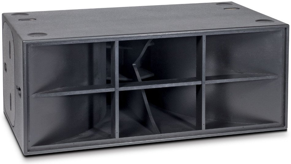 "Dual 18"" Horn-Loaded Subwoofer with Casters"