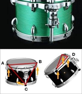 Tama TW42ZSWSBN 4 Piece STAR Drum Walnut Shell Pack in Satin Black Walnut Finish TW42ZSWSBN