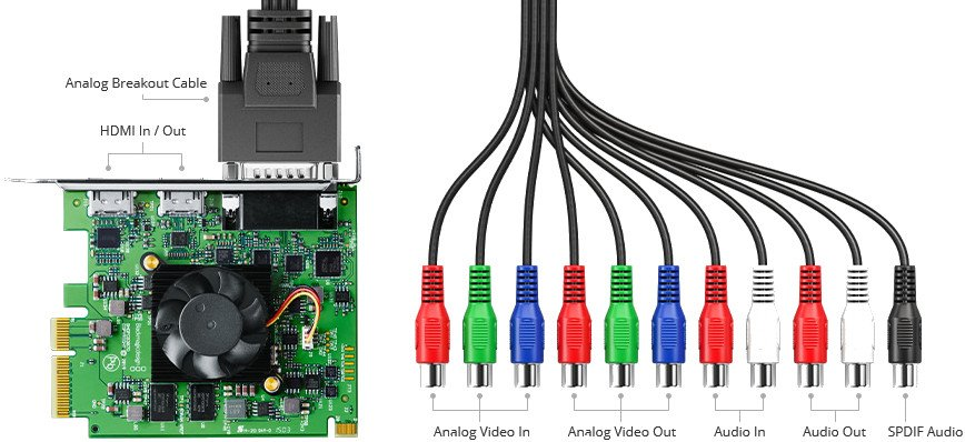 4K HDMI PCI Express Capture Card with Breakout Cable