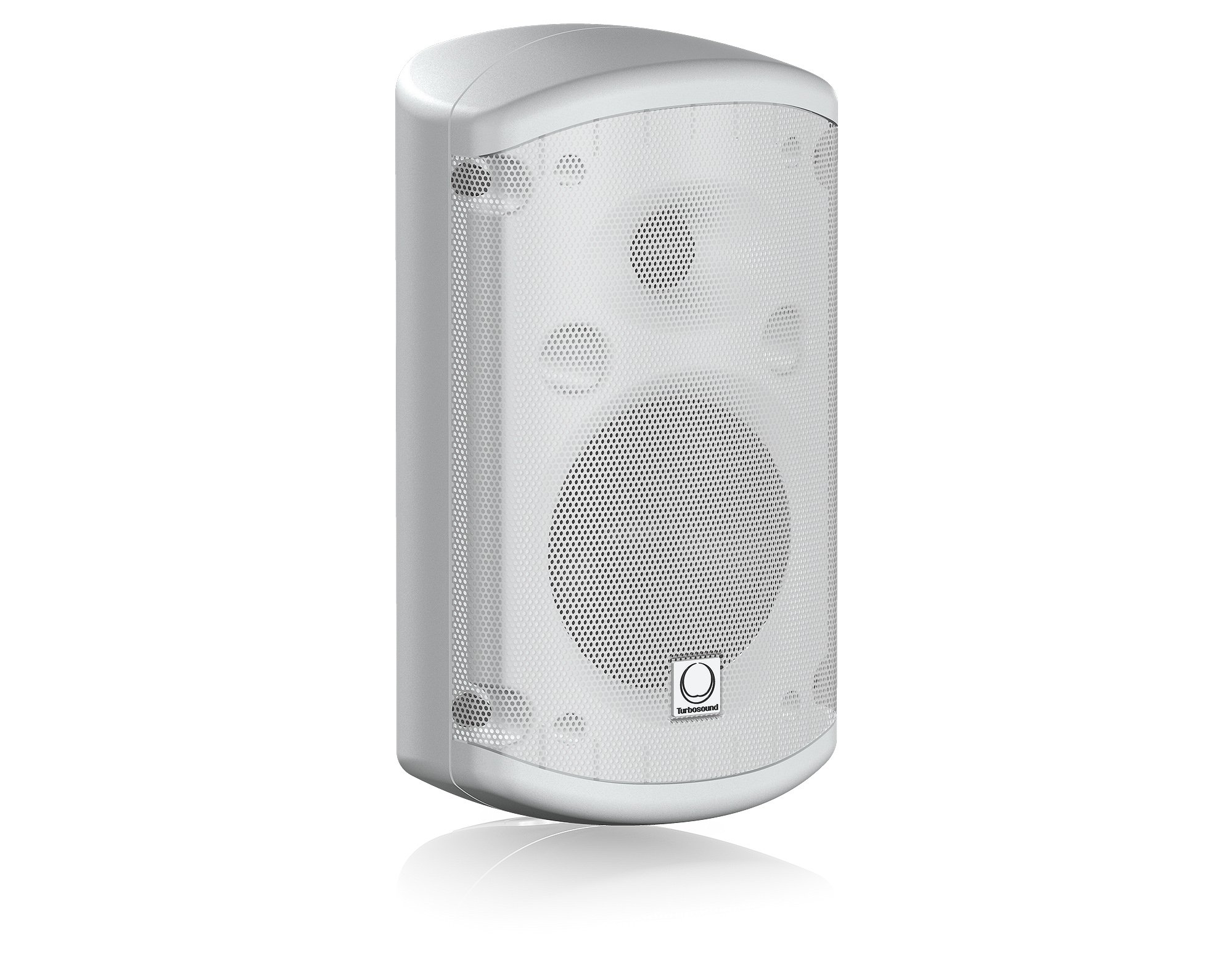 "Pair of 5"" 60W 2-Way Loudspeakers in White with 70/100V & Low Impedance Operation"