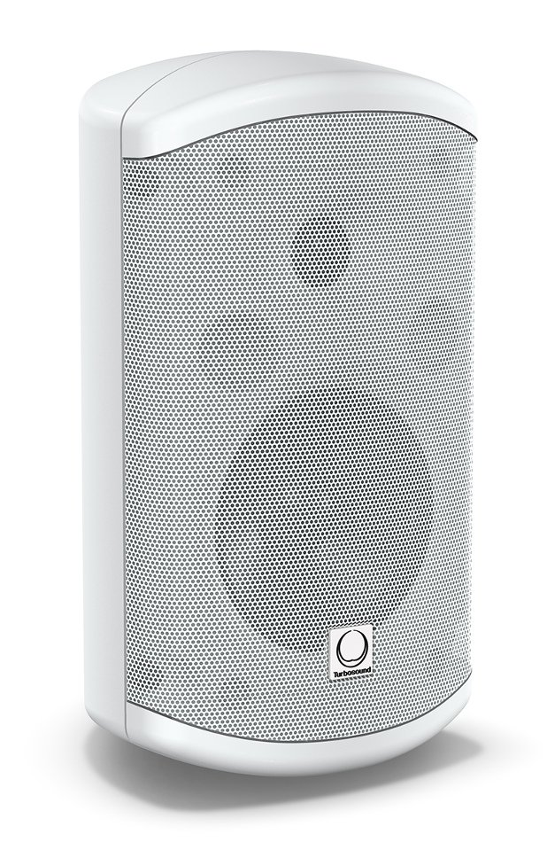 "Pair of 5"" 60W 2-Way Weather Resistant Loudspeakers in White with 70/100V & Low Impedance Operation"