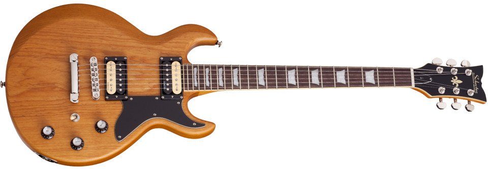 Electric Guitar with Aged Natural Satin Finish