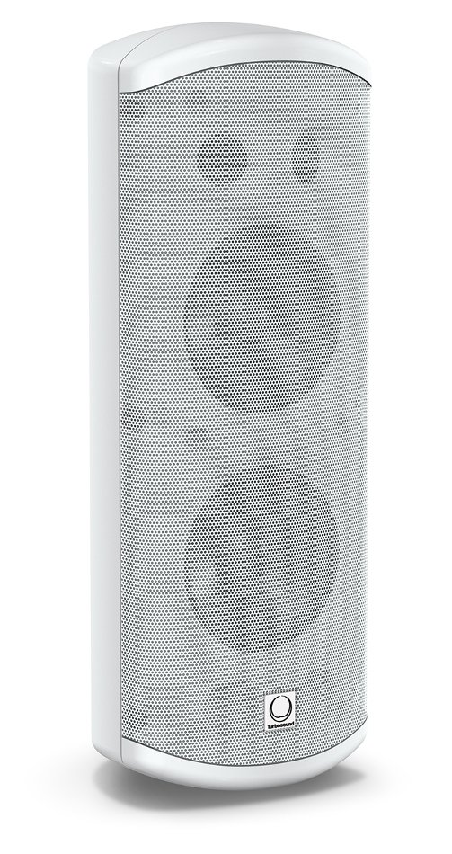 "Pair of Dual 5"" 120W 2-Way Loudspeakers in White with 70/100V & Low Impeadance Operation"