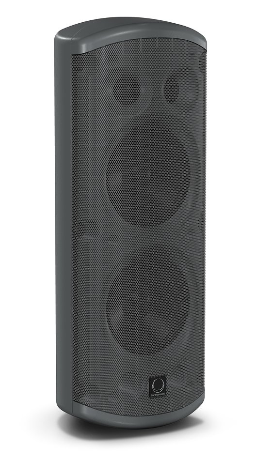 "Pair of Dual 5"" 120W 2-Way Weather Resistant Loudspeakers in Black with 70/100V & Low Impeadance Operation"