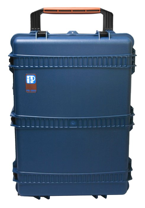 Wheeled Trunk-Style Hard Case Shell with Cubed Foam Interior