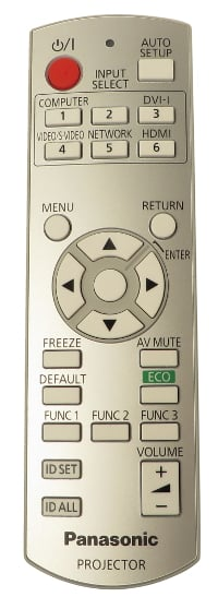 Remote for PT-FW430U and PT-FX400U