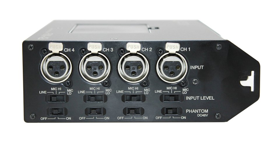4-Channel Portable Field Mixer with USB Digital Audio Output