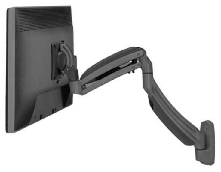 Single Monitor Kontour K1W Dynamic Wall Mount in Black