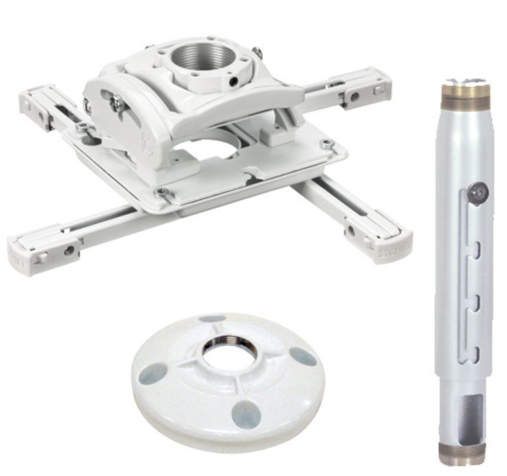 Installation Kit for Projector Ceiling Mounts in White