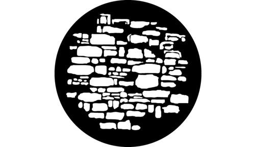 """Old Stones"" Design Steel GAM Gobo"