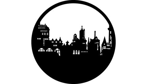 """Old City Skyline"" Design Steel GAM Gobo"