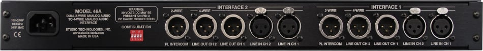 Dual 2-Wire Analog Audio to 4-Wire Analog Audio Party-Line Interface