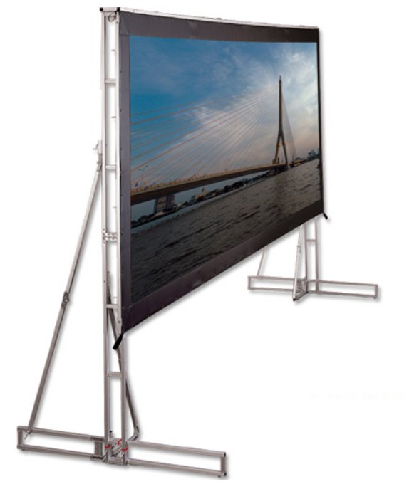 """18' 4"""" HDTV Truss-Style Cinefold Complete Portable Projection Screen"""