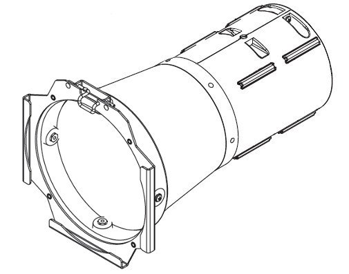 White 14° Lens Tube with Installed Lens