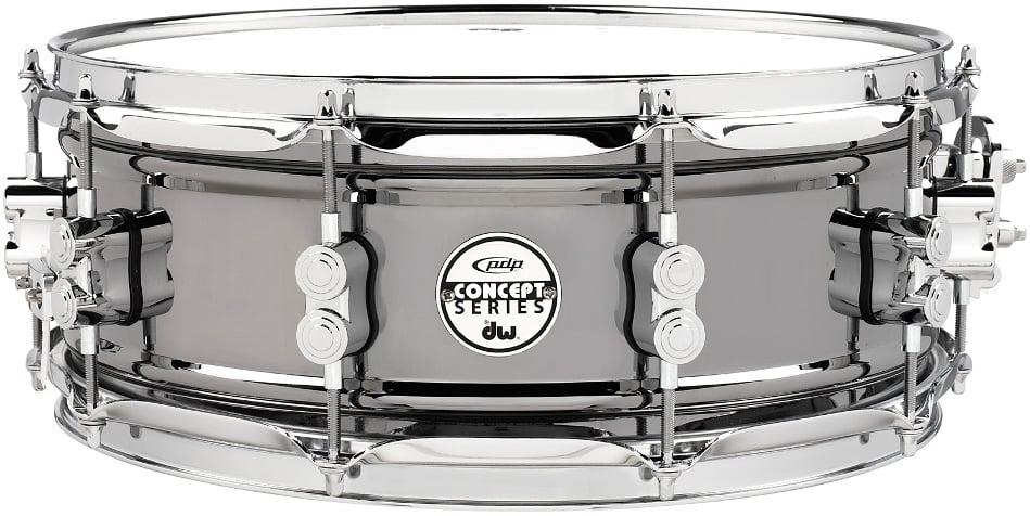 """5.5""""x14"""" Concept Series Black Nickel Over Steel Snare Drum"""
