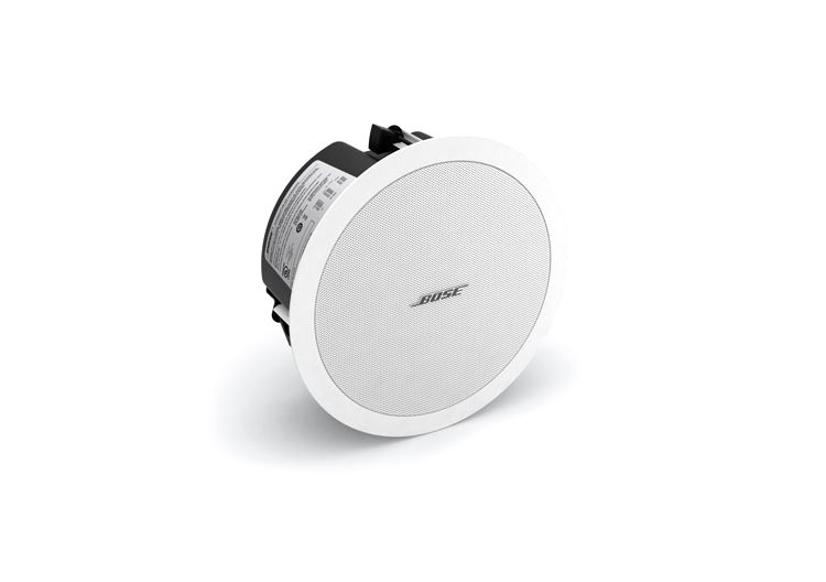 "4.5"" Full-Range Ceiling Loudspeaker with 70/100V Transformer or 8 Ohm Operation in White"