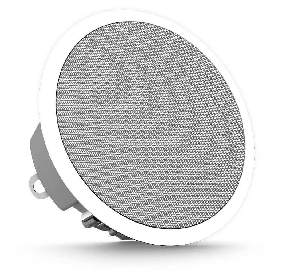 "3.5"" 30W 2-Way Full-Range Ceiling Loudspeaker with 70/100V Transformer or 16 Ohm Operation in White"