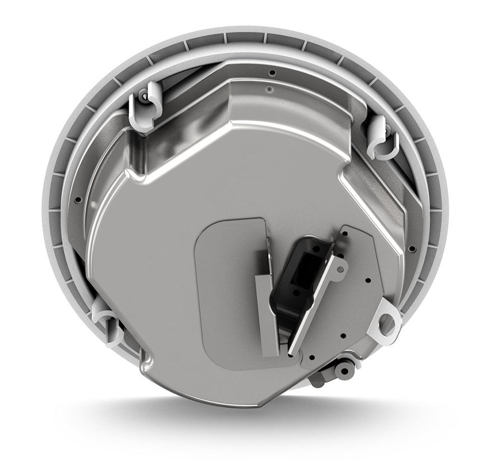 """3.5"""" 30W 2-Way Full-Range Ceiling Loudspeaker with 70/100V Transformer or 16 Ohm Operation in White"""