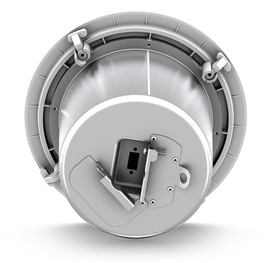 "5"" 60W 2-Way Full-Range Ceiling Loudspeaker with 70/100V Transformer or 16 Ohm Operation in White"