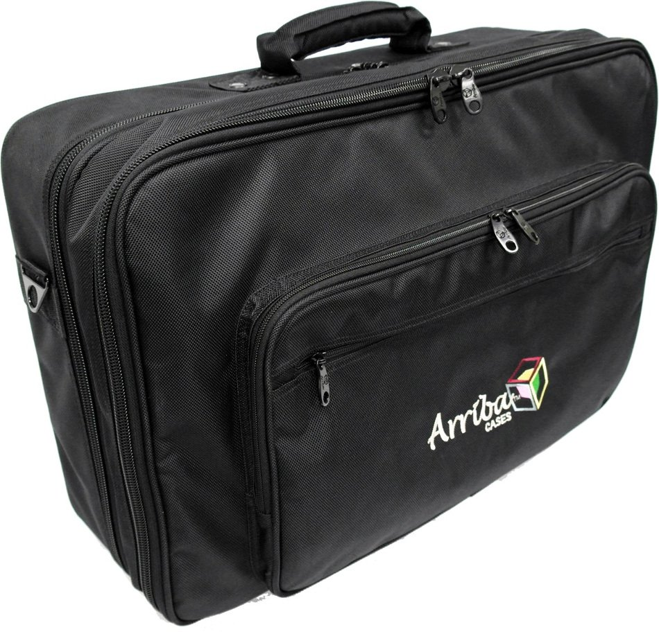 Padded Soft Case for DJ Mixers with Laptop Storage Compartment
