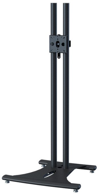 "Elliptical Floor Stand with 60"" Black Poles"