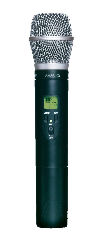 ULX Series Wireless Handheld Transmitter with SM86 Cardioid Condenser Capsule, 554-589 MHz