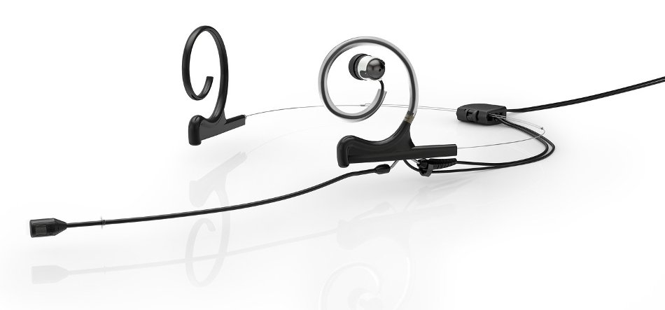 d:fine™ 88 In-Ear Broadcast Cardioid Headset Microphone in Black with Dual-Ear Mounts, Single In-Ear Monitor, and 120mm Boom