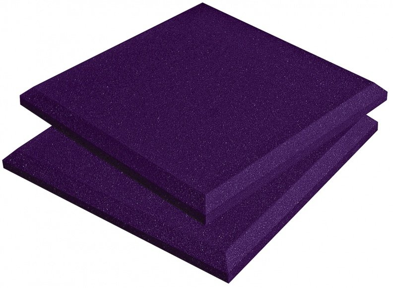 "Box of 14 1'x1'x2"" SonoFlat Acoustic Panels in Purple"