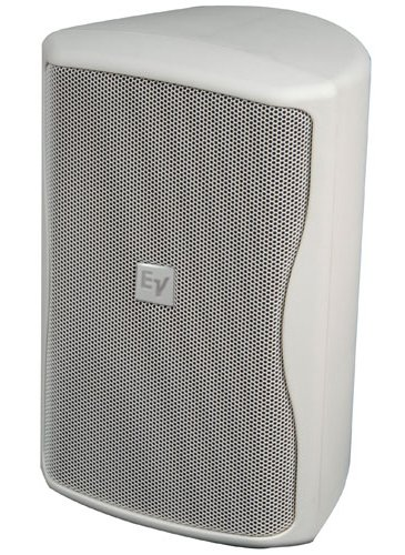 "8"" Indoor/Outdoor Speaker in White with 100° x 100° Coverage Pattern and Multi-Tap 70/100V Transformer"