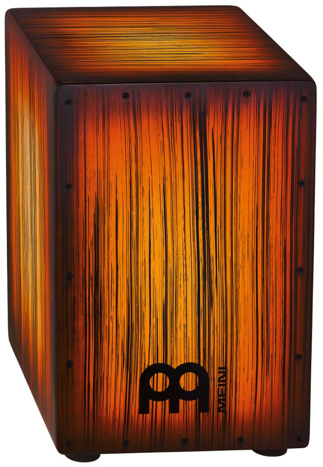 Headliner Designer Series String Cajon in Amber Tiger Striped Finish