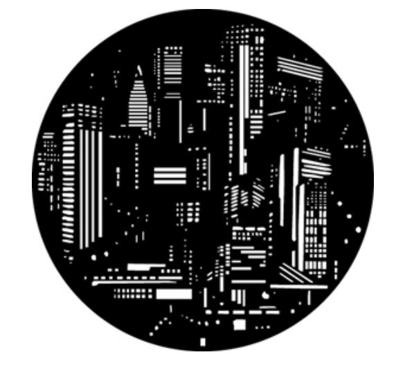 City Lights Steel Gobo