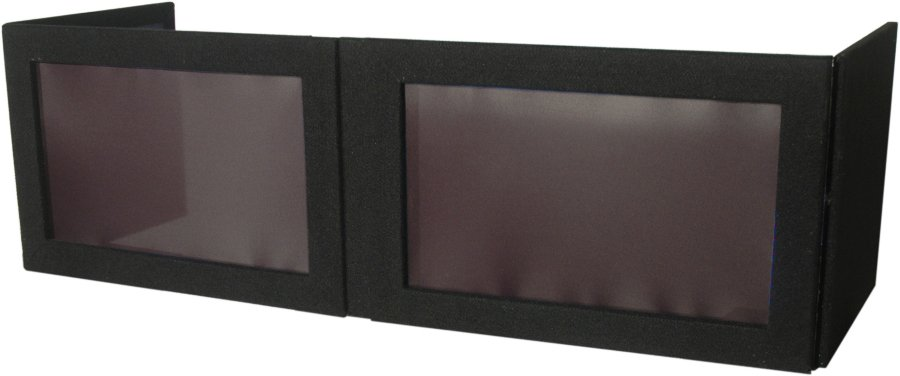 Carpet Series Table Top Lycra DJ Facade in Black