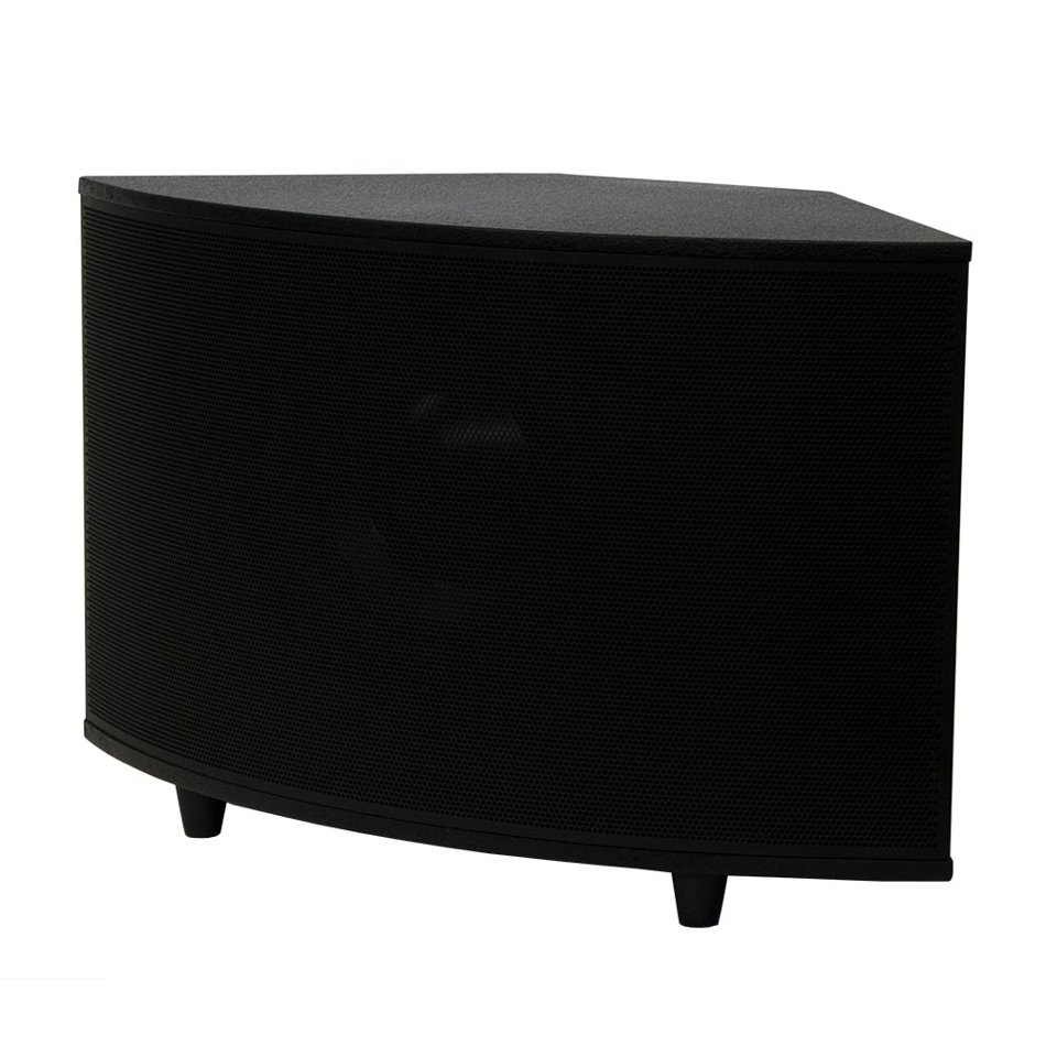 """10"""" 200W Powered Surface-Mount Subwoofer in Black"""