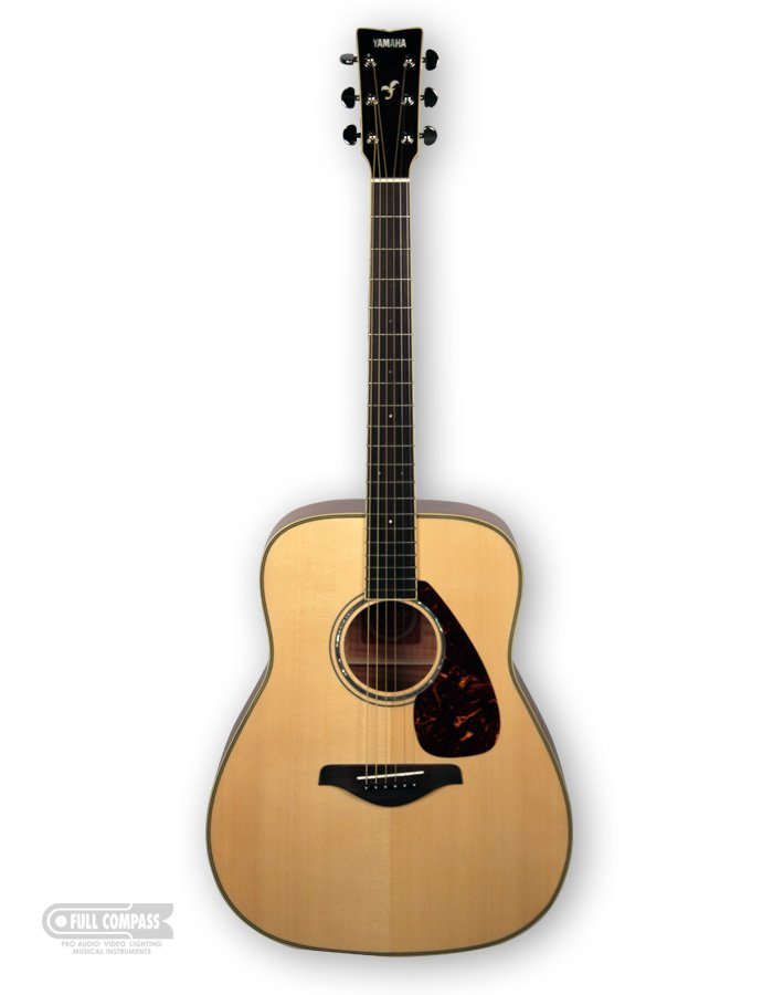 Vintage Natural Finish Acoustic Guitar with Flame Maple Back/Sides