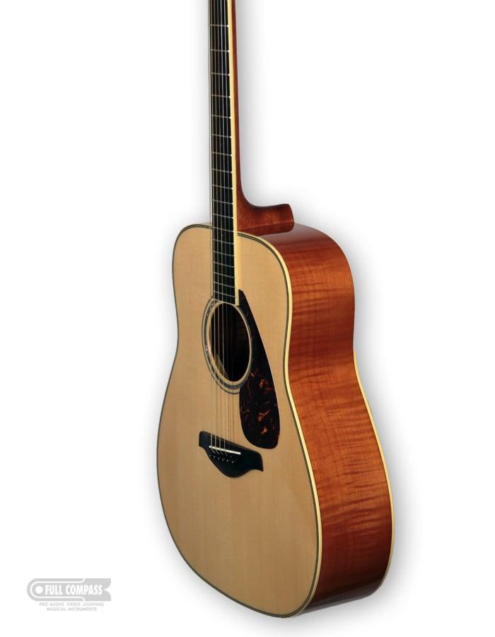 Yamaha FG740SFM Vintage Natural Finish Folk Guitar with Flame Maple Back/Sides FG740SFM