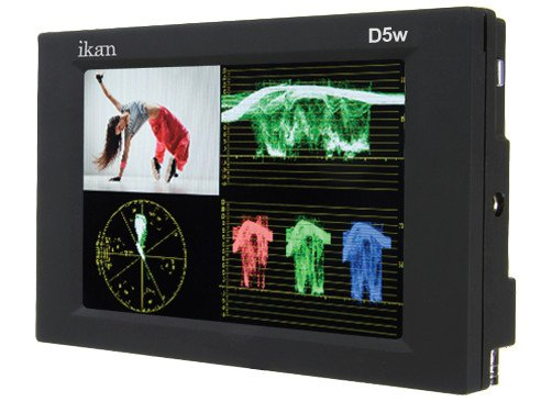 "5.6"" 3G-SDI/HDMI LCD Monitor with HD Panel, Waveform and Canon 900/Sony L/Panasonic D54 Battery Plates"