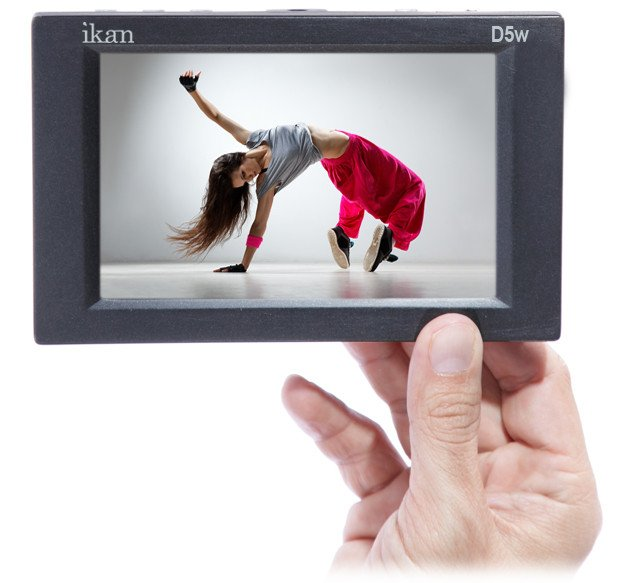 "5.6"" 3G-SDI/HDMI LCD Monitor with HD Panel, Waveform and Canon E6/Nikon EL15/Panasonic G6 Battery Plates"
