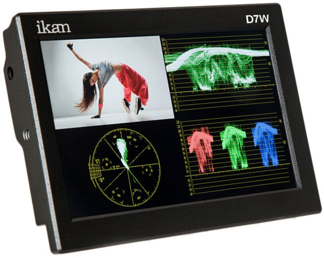 "7"" 3G-SDI LCD Monitor with IPS Panel, Waveform, and Canon E6/Nikon EL15/Panasonic G6 Battery Plates"
