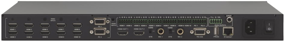 Kramer VP-444 12-Input HDMI and Analog ProScale Presentation Digital Scaler/Switcher with Microphone Inputs plus Ethernet Control VP444